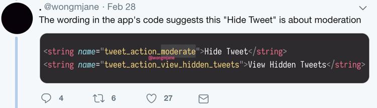 Twitter permitirá a los usuarios ocultar respuestas